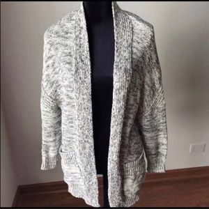 ZARA | Marled Open Front Knit Cardigan Sweater M